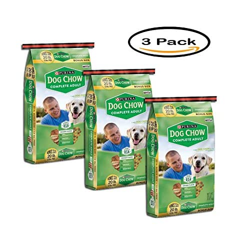 PACK OF 3 - Purina Dog Chow Complete Adult Dog Food 20 lb