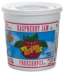 Sunfresh Raspberry Jam Freezerves, 16-Ounce Tubs (Pack of 6)