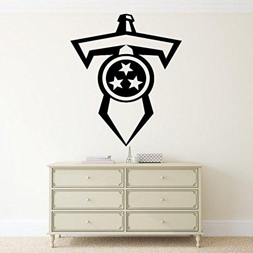 NFL Football Team Tennessee Titans Vinyl Decal Wall Sticker Emblem Logo Sport Poster Home Interior Removable Decor (Tennessee Titans Ceramic)