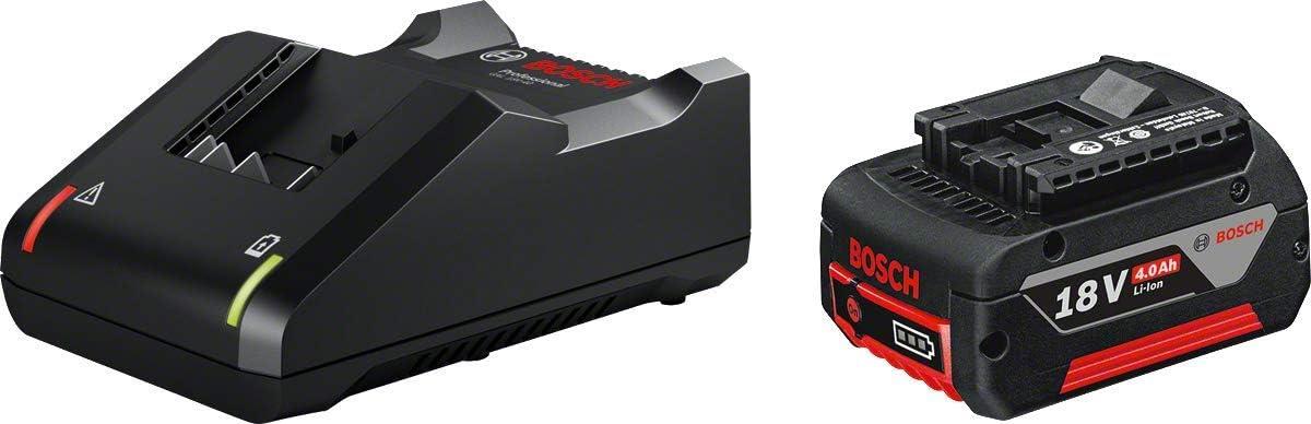Bosch Professional GAL 18V-40 + GBA 18V Starterset Cargador Litio, 1 batería x 4.0 Ah, 18 V