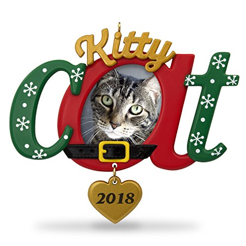 Hallmark Keepsake Christmas Ornament 2018 Year Dated, Kitty Cat Picture Frame, Photo - Personalized Cat Ornaments