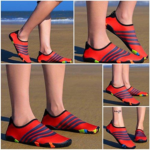 Water Shoes Casual Sports Bigood Red Outdoors Men Swim Women Unisex Aqua Socks 0wxHqRX