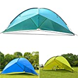 ShopSquare64 4.8 x 4.8 x 2m Camping Tent Sunshade Both Sides UV Portable Beach Tent Fishing Shade Wigwam