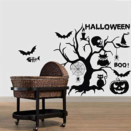 JHKUNO Wall Décor Stickers, Happy Halloween Cartoon Wall Sticker Window Home Decoration Decal Decor -