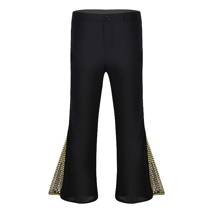 iixpin Pantalón de Danza Latina para Hombre Pantalones ...