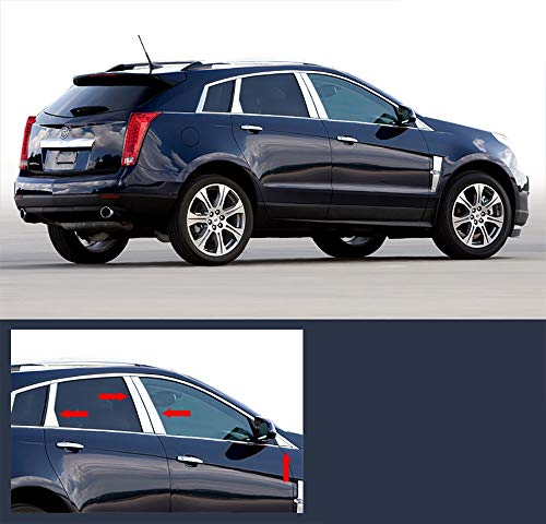 Made In USA! Works With 2010-2017 Cadillac SRX 8PC Stainless Steel Chrome Pillar Post Trim
