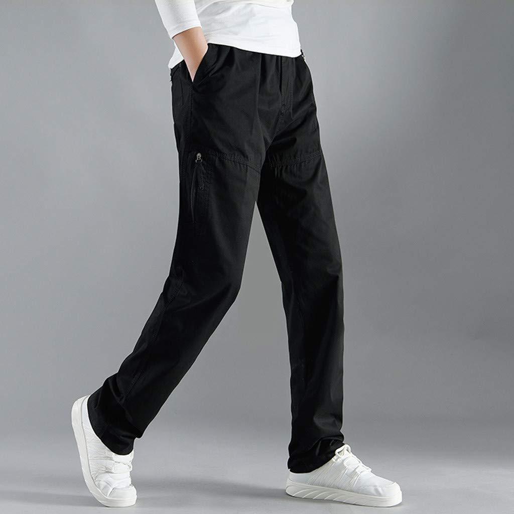 Zoilmxmen Men Fashion Solid Casual Comfortable Design Daily Cargo Pants Pockets Long Pants