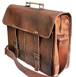 El-Cuero VIntage Leather laptop messenger bag man bag briefcase for men & women