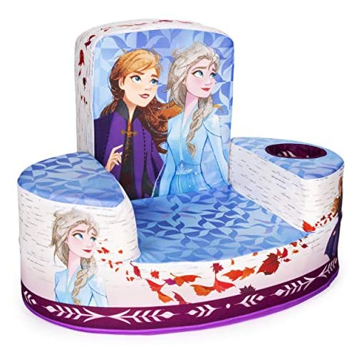 Marshmallow Furniture Flip-See-Do Child's Foam Furniture Toddler Chair for Kids Ages 18 Months and Up, Disney's Frozen 2