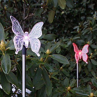 Set of 2 Garden Color Changing Solar Butterfly Stake Lights by lichi LED Lighting by lichi LED Lighting