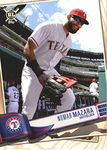 - 2019 Topps Big League #223 Nomar Mazara Texas Rangers Baseball Card
