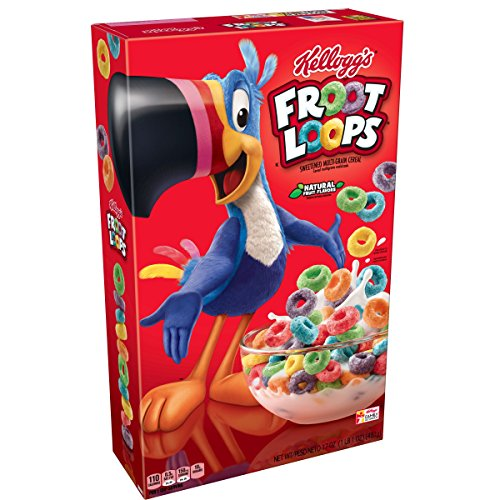 Froot Loops Kellogg's, Breakfast Cereal, Original, Good Source of Fiber, 17 oz Box(Pack of 3) -
