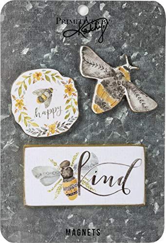 Primitives by Kathy Magnet Set, Set of 3, Bees