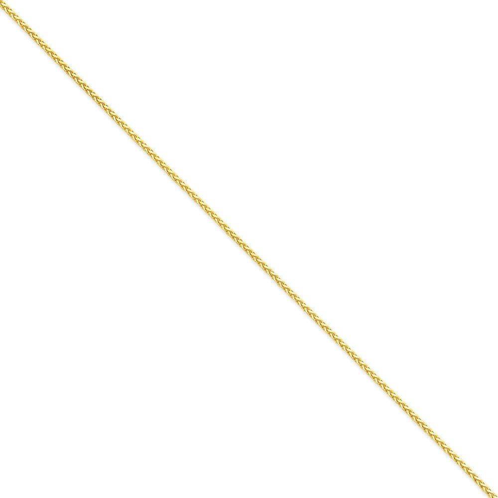 Brilliant Bijou 14k Yellow Gold 1.9mm Round D//C Wheat Chain Bracelet