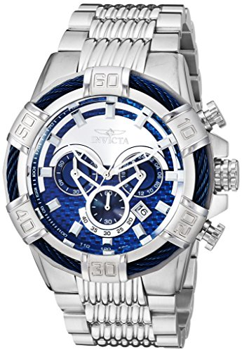Invicta Men's Bolt Quartz Watch with Stainless-Steel Strap, Silver, 26 (Model: 25541)