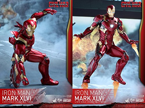 Hot Toys Marvel Captain America Civil War Iron Man Mark XLVI 46 DIECAST 1/6  Scale Figure - Toys