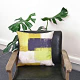 Set of 4 Yellow Throw Pillow Covers Decorative Cotton Linen Square Cushion Covers Outdoor Couch Sofa Home Pillow Covers 20x20 Inch