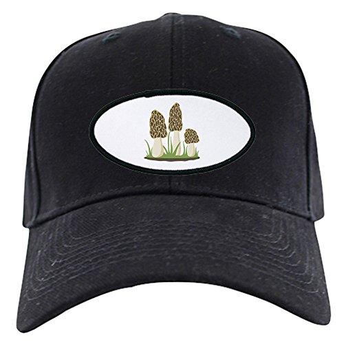 Brushed Canvas Mushroom - CafePress - Morel Mushrooms Baseball Hat - Baseball Hat, Novelty Black Cap