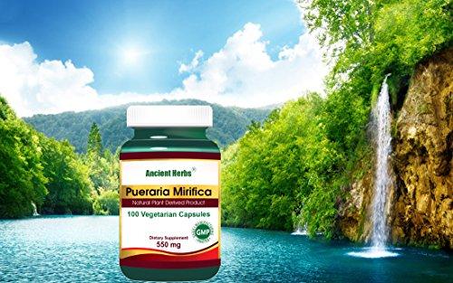 Mirifica Pueraria - Ancient Herbs 550mg 100 Vegetarian (Herbs 550 Mg 100 Capsules)