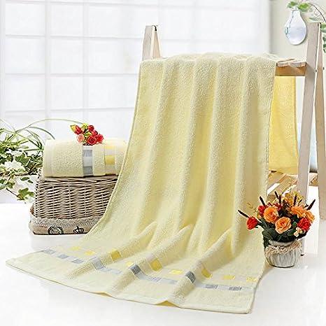 junchen 1 unidades 70 * 140 cm Hombres Mujeres suave baño algodón toalla para adultos pelo mano toallas de mano, c: Amazon.es: Jardín