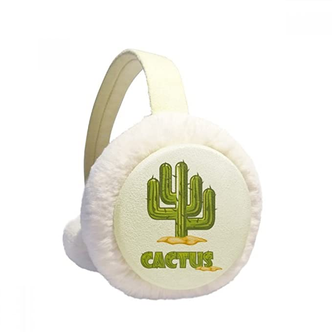 Cactus Potted Green Plant Succulents Winter Earmuffs Ear Warmers Faux Fur Foldable Plush Outdoor Gift