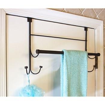 Superbe Bathsense Over The Door Towel Rack With 4 Hooks, Oil Rubbed Bronze