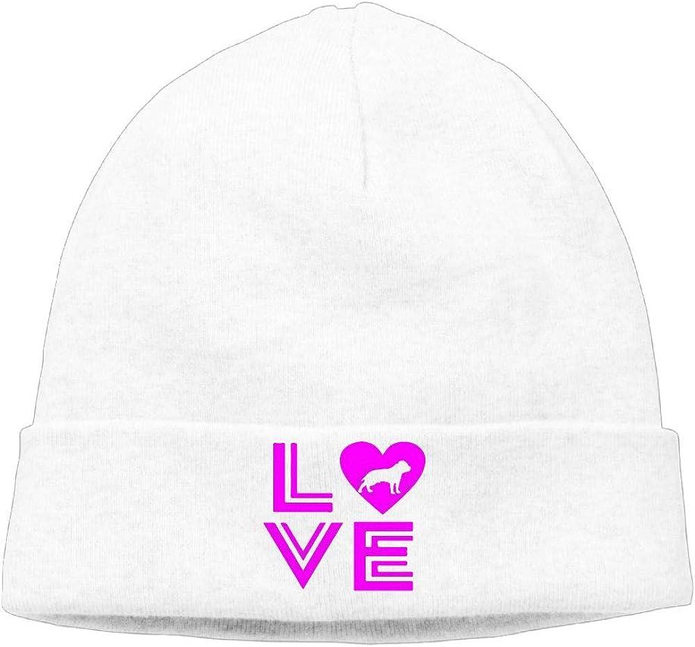 Love Pitbull Unisex Beanie Winter Warm Knit Beanie Cap