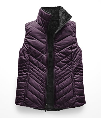 (The North Face Women's Mossbud Insulated Reversible Vest Galaxy Purple/Weathered Black X-Small)