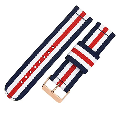 Top Grade Nylon Watch Straps Bands Nato style 20mm Replacements for Men Colorful Military Casual Durable by autulet