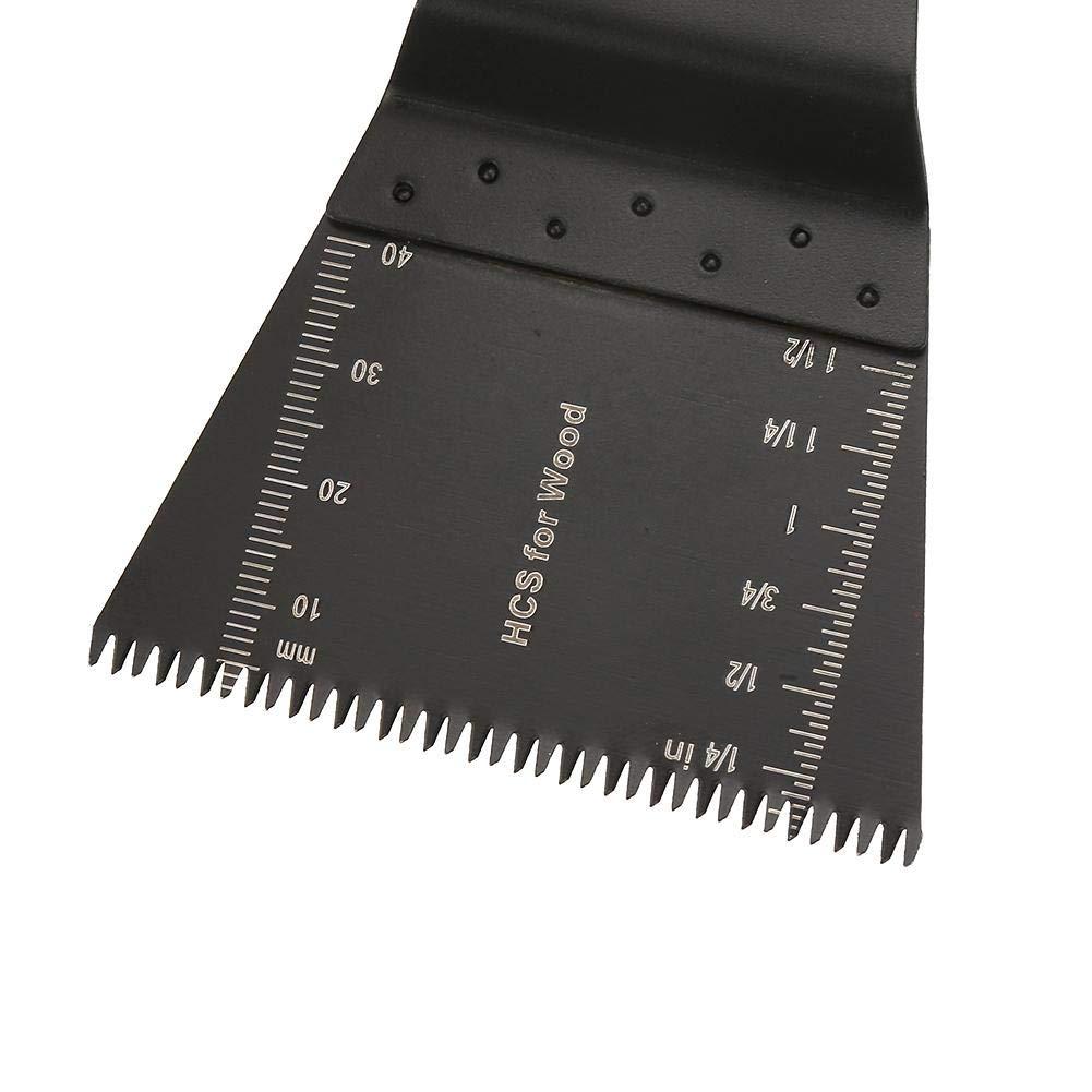 10 Piezas Cuchillas Oscilante de 65mm Multifunci/ón Universal Hoja de Sierra Oscilante de Acero de Corte de Madera Compatibles con Herramientas Multiuso Oscilantes