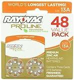 Rayovac Proline Advanced Hearing Aid Batteries Size 13, 48 Pack
