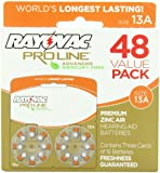Rayovac Proline Advanced Hearing Aid Batteries Size 13A (48 Pack)