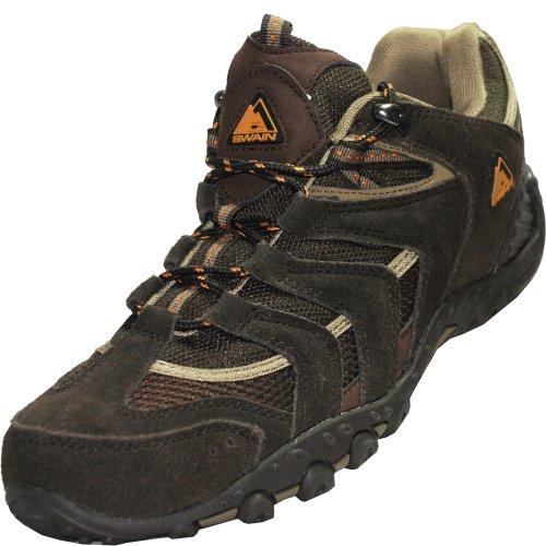 C. SWAIN men walking trekking shoes CRESPO Brown