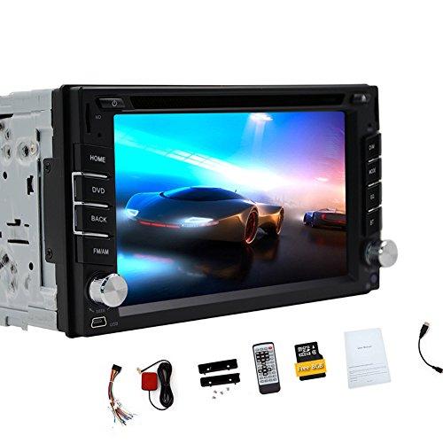 GPS Navigation Steering Wheel Control 2 Din Car DVD CD