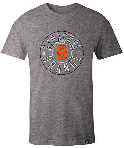 Syracuse University Football - NCAA Syracuse Orange Adult NCAA Circles Image One Everyday Short sleeve T-Shirt, X-Large,HeatherGrey