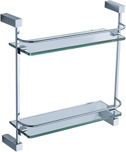 Fresca Bath FAC0446 Ottimo 2 Tier Glass Shelf, Chrome