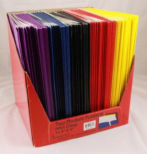 Premium Two Pocket / 3 Fasteners Folders - 8.5'' x 11'' 100 pcs sku# 1076444MA by DDI