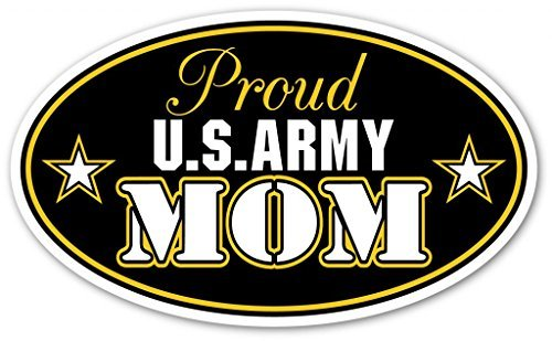 Mom Decal Sticker - Proud US Army Mom U.S. Armed Forces Euro Vinyl Bumper Sticker Decal - Ideal For use on Car windows, Bumpers, Walls, Doors, Glass Windows or Any Other Clean Smooth Surfaces 3