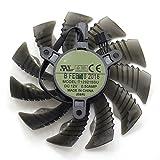 For GTX960 GTX970 GTX1050 GTX1060 DC12V 0.5A T129215SU 85MM 4pin temperature control graphics card cooling fan (1 Pcs)