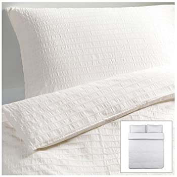 ikea ofelia vass 3pc king duvet cover set white 100 cotton