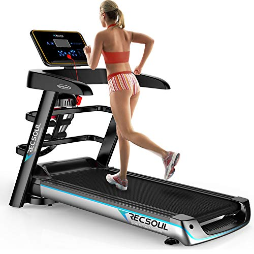 RESOUL Folding Treadmill,Electric Fitness Exercise Treadmill Jogging Running Machine Home Gym Treadmill with Bluetooth