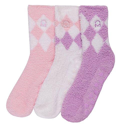 3-Pairs Womens Noble Mount Soft Anti-Skid Fuzzy Winter Socks - Set C5
