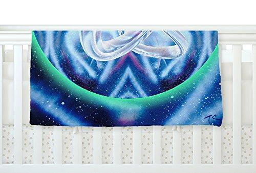 KESS InHouse Infinite Spray Art New Era Blue Green Fleece Baby Blanket 40 x 30