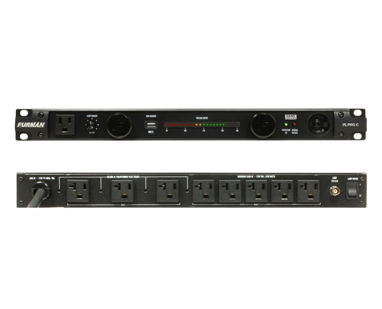 Furman PL-Pro C PL-PROC 20 Amp Power Conditioner with Lights and Voltmeter