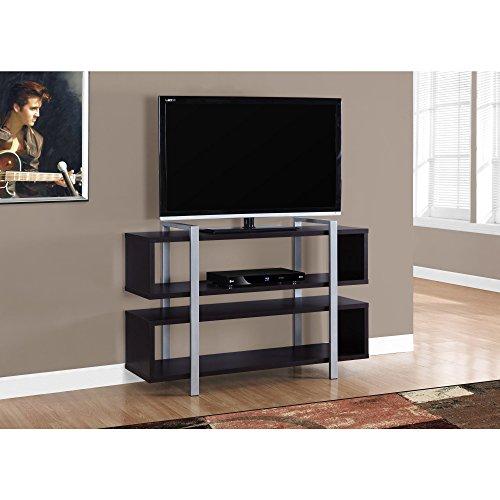 Monarch Specialties I 7182 Cappuccino Bookcase TV Stand, 48