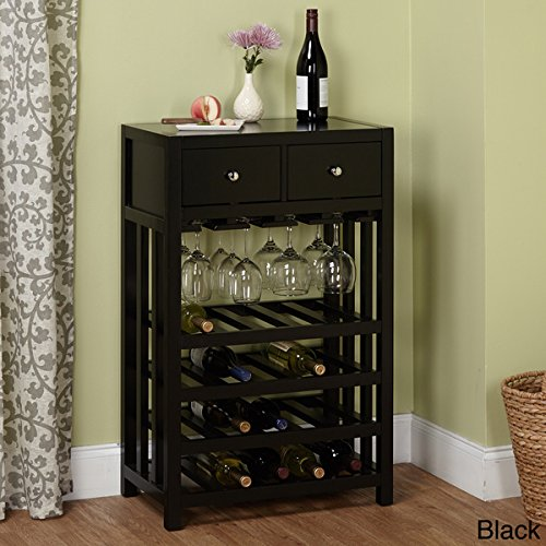 Simple Living Napa Wood 20-bottle Wood Wine Cabinet Tower with Two Drawers by Simple Living Products
