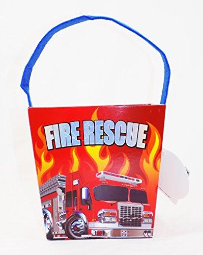 Firetruck Firefighter Easter Bucket Basket with Sound Fire (Basketball Easter Basket)