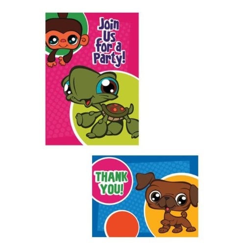 Littlest Pet Shop Invitations and Thank You Notes w/Envelopes (8ct) -