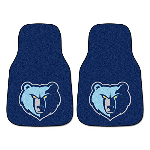 (FANMATS NBA Memphis Grizzlies Nylon Face Carpet Car Mat)