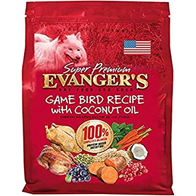Evanger's Super Premium Gamebird Recipe with Coconut Oil Dry Food for Dogs